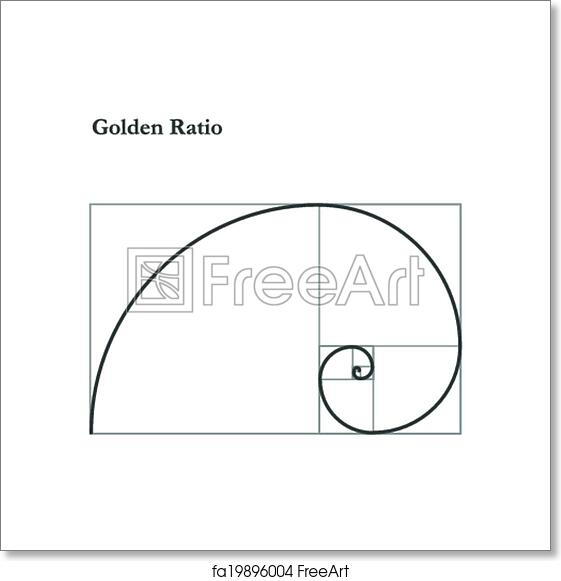 Free art print of Golden ratio, proportion. Golden