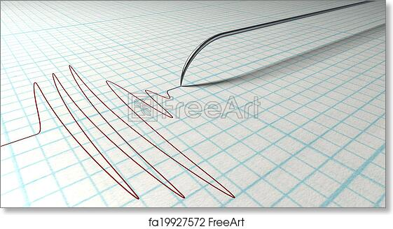 Free art print of Polygraph Needle And Drawing