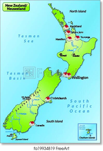 image regarding Printable Map of New Zealand identify Printable Map Fresh new Zealand