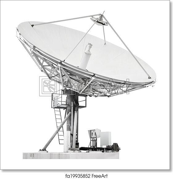 Free art print of large satellite dish parabolic antenna - Antena satelite interior ...
