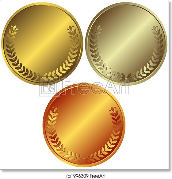 graphic about Printable Medals known as Absolutely free artwork print of Gold, silver and bronze medals