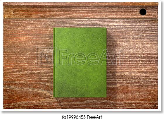 Ordinaire Free Art Print Of Vintage School Desk Top With Closed Blank Book