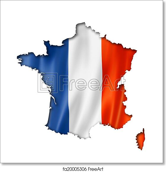 Map Of France Poster.Free Art Print Of French Flag Map