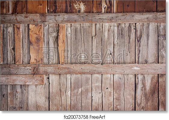 Free Art Print Of Old Barn Wood Background