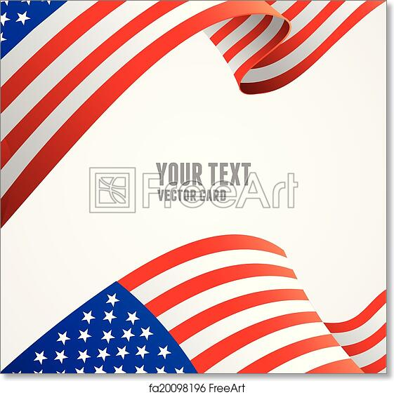 picture relating to American Flag Printable called No cost artwork print of American flag border vector case in point