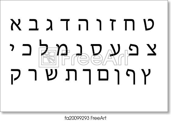 picture regarding Free Printable Hebrew Alphabet identify Free of charge artwork print of Hebrew Alphabet fastened