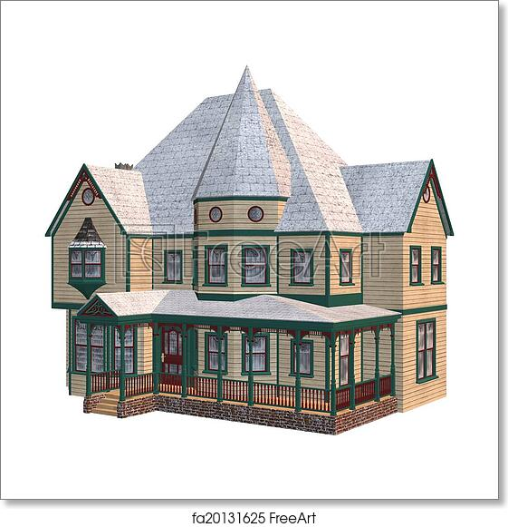 Free art print of Victorian Winter House