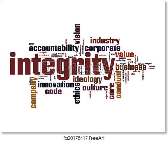 Free art print of Integrity word cloud | FreeArt | fa20178417
