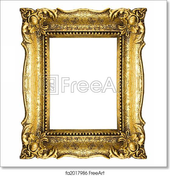 Free art print of Vintage Gold Picture Frame. Old Gold Frame ...