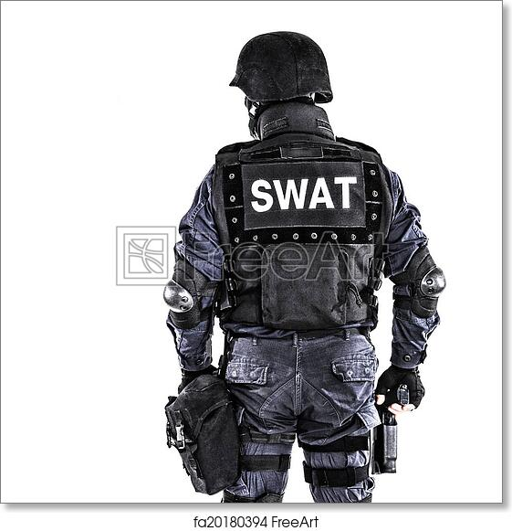 Free art print of SWAT officer. Special weapons and tactics SWAT ...