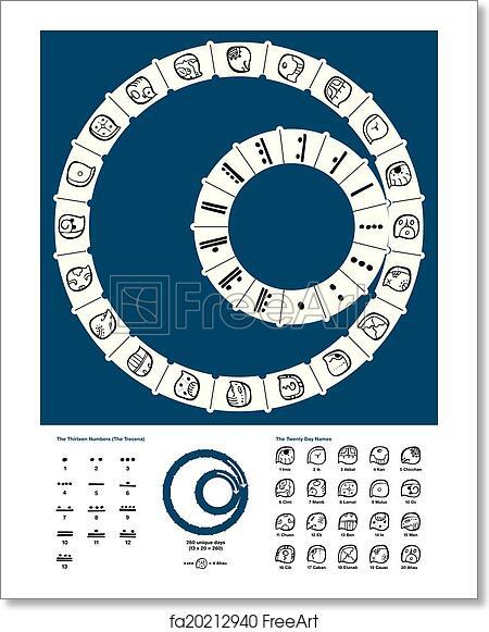 Free Art Print Of Tzolkin Maya Calendar Tzolkin The 260 Day