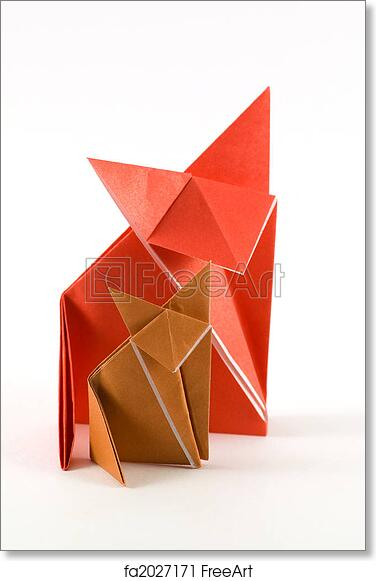 Free Art Print Of Fox Origami Two Origami Fox Made Of Orange And