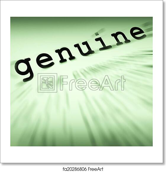 Free Art Print Of Genuine Definition Displays Certificated Stamp Or