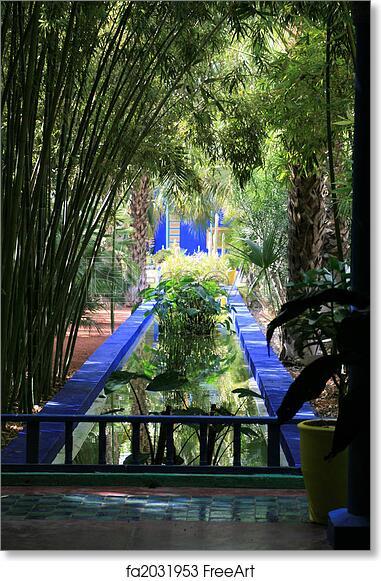 Free Art Print Of Moroccan Garden Freeart Fa2031953