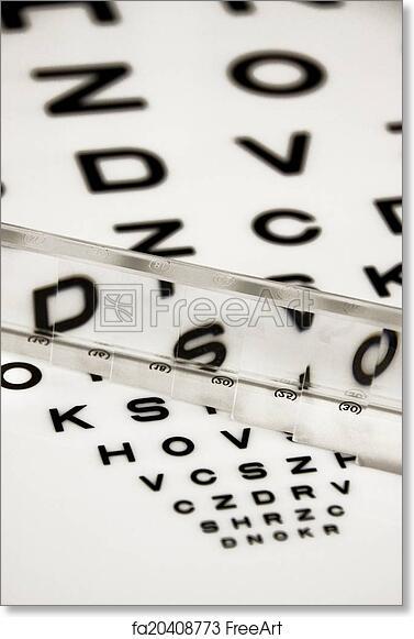 Free Art Print Of Eye Test Chart Closeup Of Eye Test Chart With