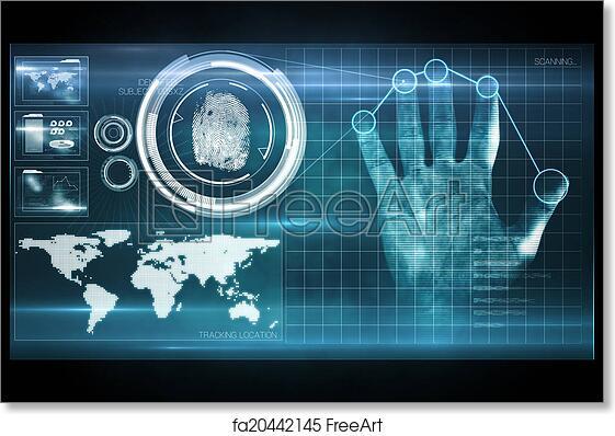 Free Art Print Of Digital Security Hand Print Scan