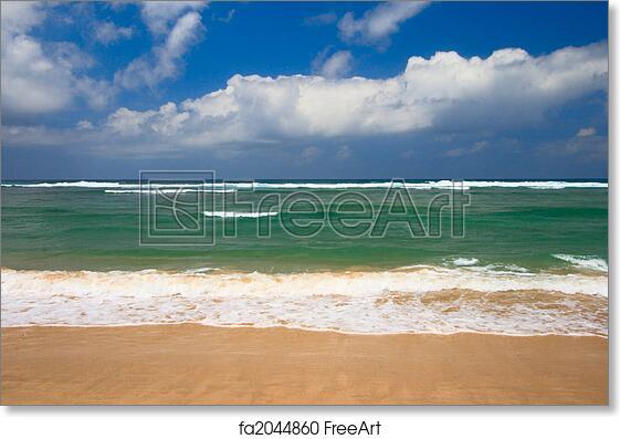 Free Art Print Of Peaceful Beach Scene Peaceful Beach Scene With