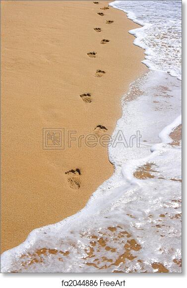 graphic relating to Footprints in the Sand Printable named No cost artwork print of Footprints upon seashore sand