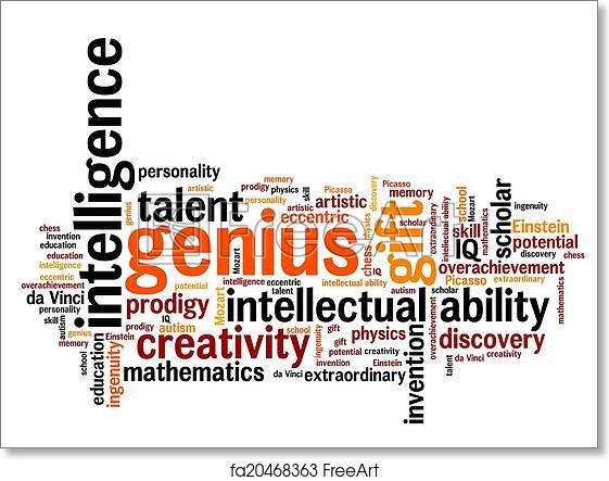 Free art print of Genius