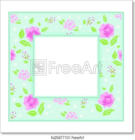 Free art print of Shabby Chic Frame. Frame Illustration with a ...