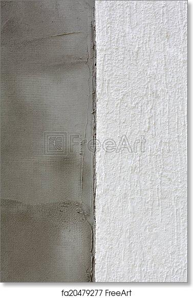 Free art print of Polystyrene insulation of wall layers