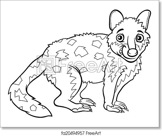 Free Art Print Of Tiger Quoll Animal Coloring Book