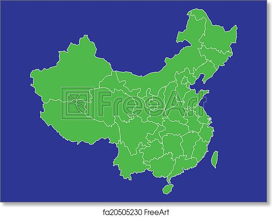 China Map Poster.Free Art Print Of China Map 2 A Map Of China Showing It S Provinces