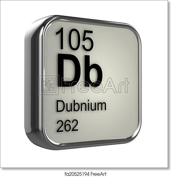 Free art print of 3d dubnium periodic table element 3d render of free art print of 3d dubnium periodic table element urtaz Images