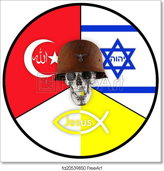 Free Art Print Of World Religions Symbols Of Judaism Islam And