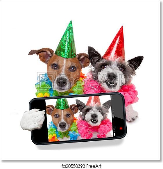 Free Art Print Of Birthday Dogs Selfie