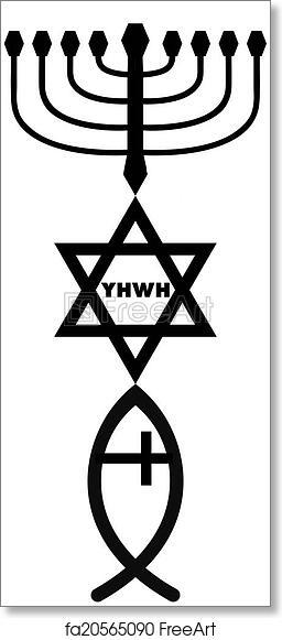 Free Art Print Of Religious Symbols Symbols Of Judaism And