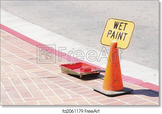 picture about Printable Wet Paint Sign identified as Free of charge artwork print of Damp paint indication