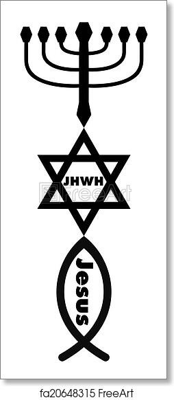 Free Art Print Of Religious Symbols Symbols Of Judaism And