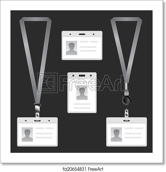 Free Art Print Of Lanyard Name Tag Holder End Badge Templates