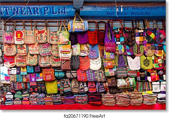 Free Art Print Of The Shop Sell Traditional Nepalese Handicrafts