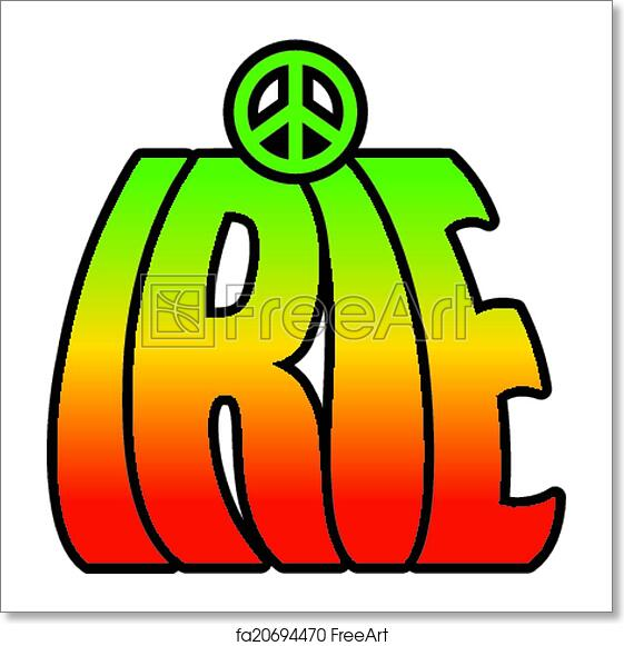Free Art Print Of Irie Peace Retro Style Irie Type Design In Reggae