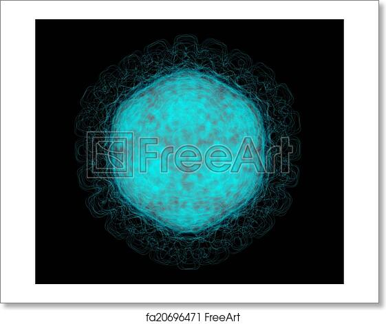 Free art print of Herpes Simplex Virus 1 (HSV-1) capsid  Cause of cold  sores  The