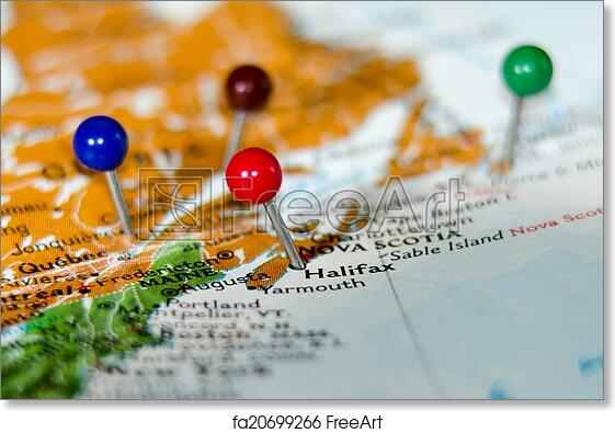 Free art print of Eastern canada cities pins othe map Eastern – Map of Eastern Canada with Cities