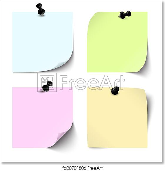 Free Art Print Of Collection Blank Colored Sticky Notes
