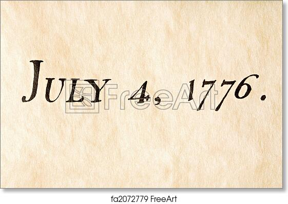 Free art print of Fourth of july 1776