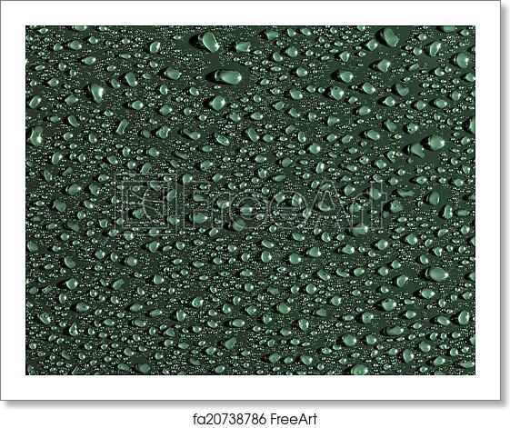 Free Art Print Of Abstract Water Drops Background Green Colour Wallpaper