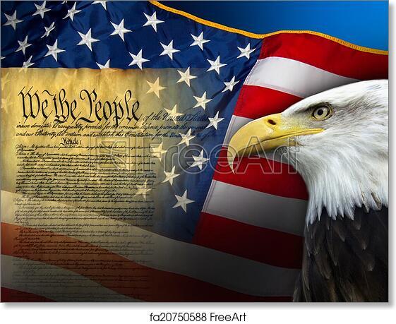 Free Art Print Of Patriotic Symbols United States Of America