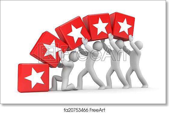 Free art print of 5 gold stars  Teamwork metaphor