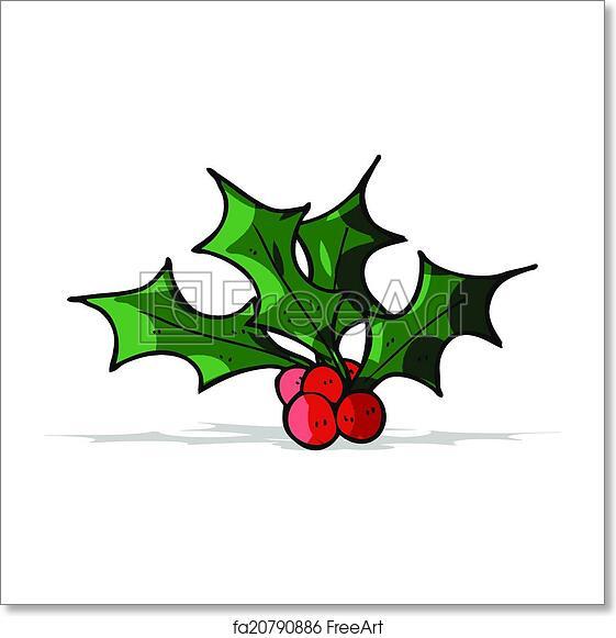 Christmas Holly Cartoon.Free Art Print Of Cartoon Christmas Holly