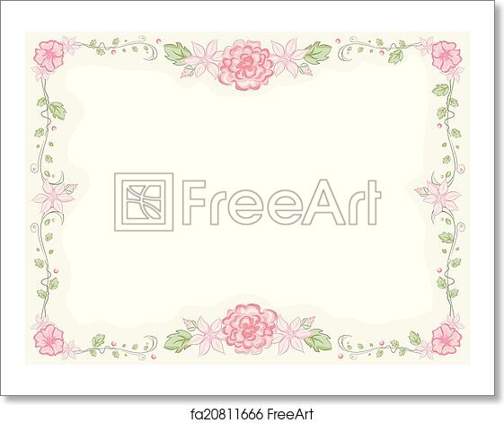 Free art print of Shabby Chic Floral Frame. Shabby Chic-Themed Frame ...