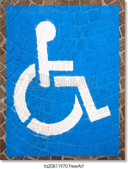 photograph relating to Printable Handicap Sign titled Cost-free artwork print of Handicap Parking Sites