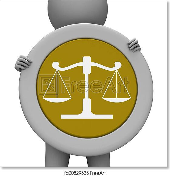Free Art Print Of Balance Scales Means Jury Court And Balanced