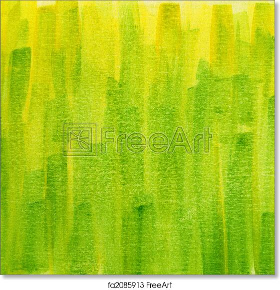 photograph relating to Printable Watercolor Paper titled Free of charge artwork print of Environmentally friendly and yellow grunge painted watercolor paper texture