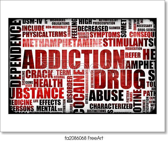 crack addict medical term