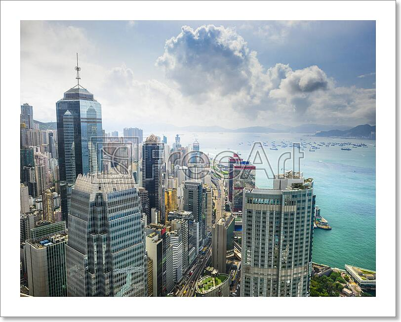 Details About Hong Kong China City Skyline Art Print Home Decor Wall Poster